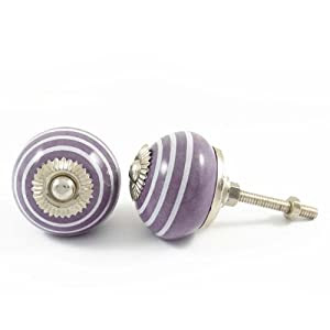 Furniture Knobs Purple Cabinet Drawer Pull Door Knobs ...