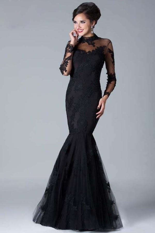 Long black evening dresses ebay