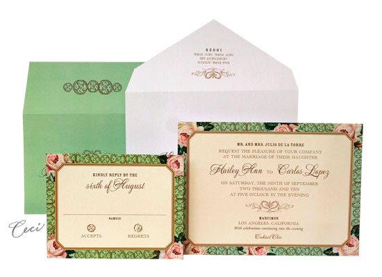 Spanish Rose Wedding Invitations Ceci ReadytoOrder Collection Ceci