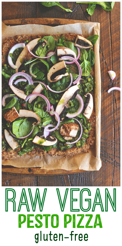 Raw Vegan Pesto Pizza (Gluten Free)   NeuroticMommy