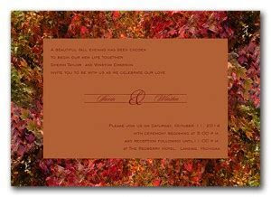 Cheap fall wedding invitations in Los Angeles   The