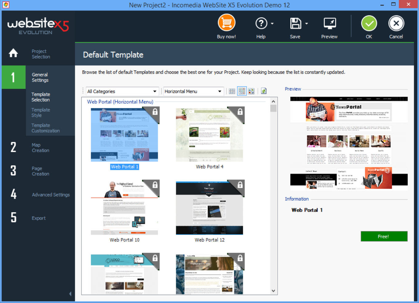 Website Builder Demos with Lots of Templates