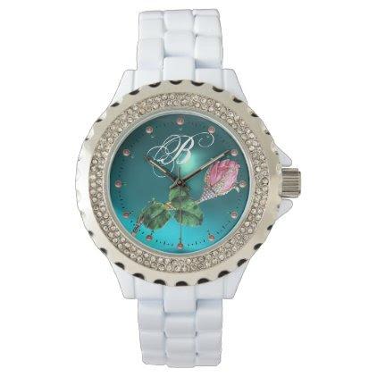 ROSEBUD JEWEL AND DIAMONDS MONOGRAM Blue Gem Watch