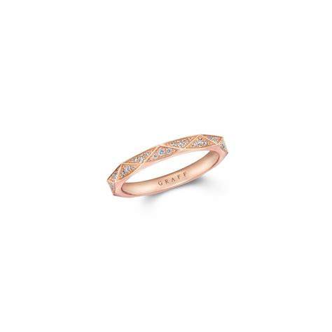 Signature Pavé Wedding Band, Rose Gold   Graff