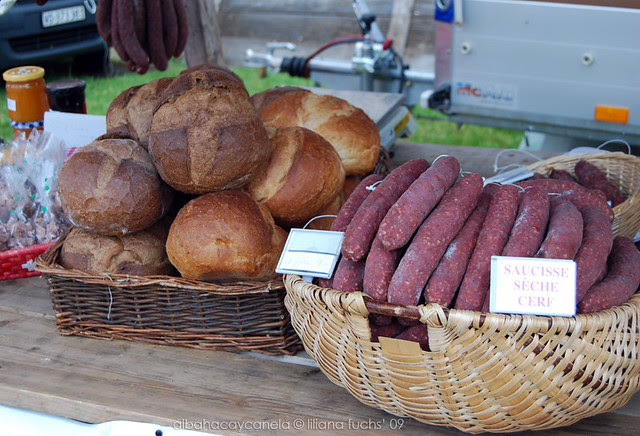 Bread and sausages