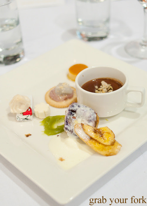 Halo halo spring roll and Filipino petit four at the Filipino Barbie