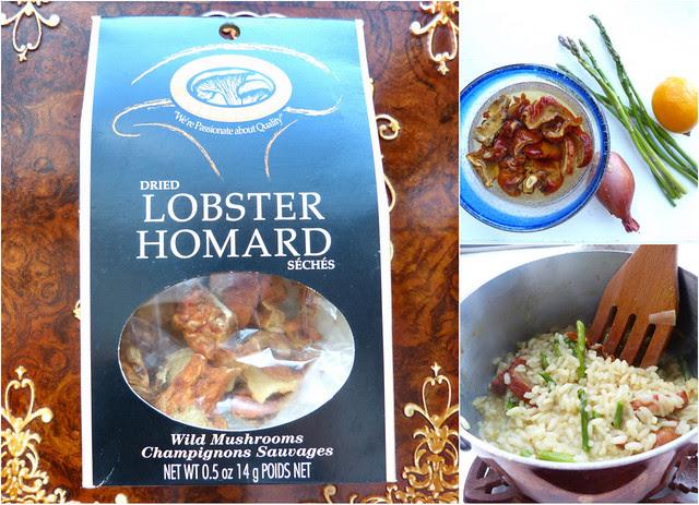 Lobster Mushroom, Asparagus and Meyer Lemon Risotto