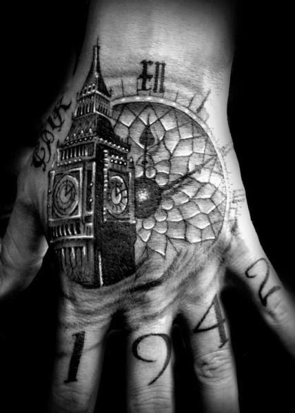 Big Ben Tower Clock Tattoo By Westfall Tattoo Best Tattoo Ideas