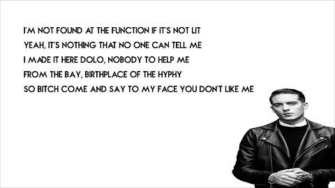 G Eazy Calm Down Lyrics