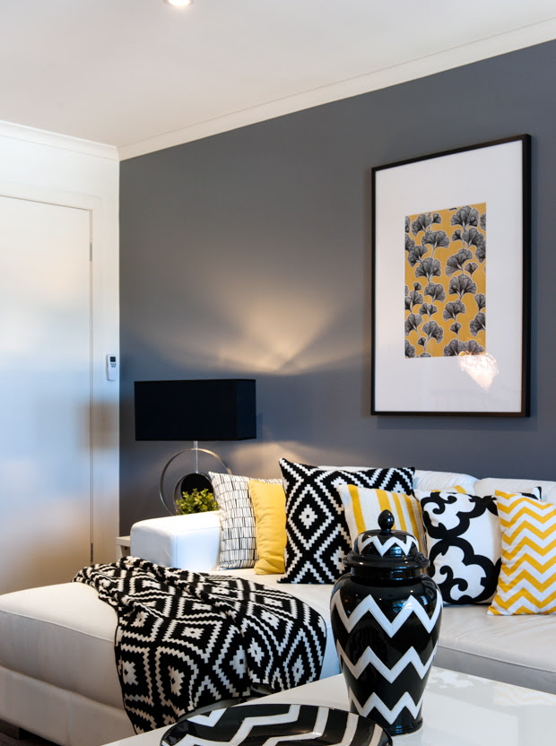 A look at Cathy Elsmore's Black, Yellow and White Living ...