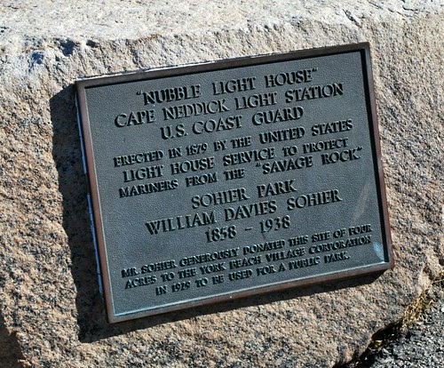 Plaque for Nubble Light