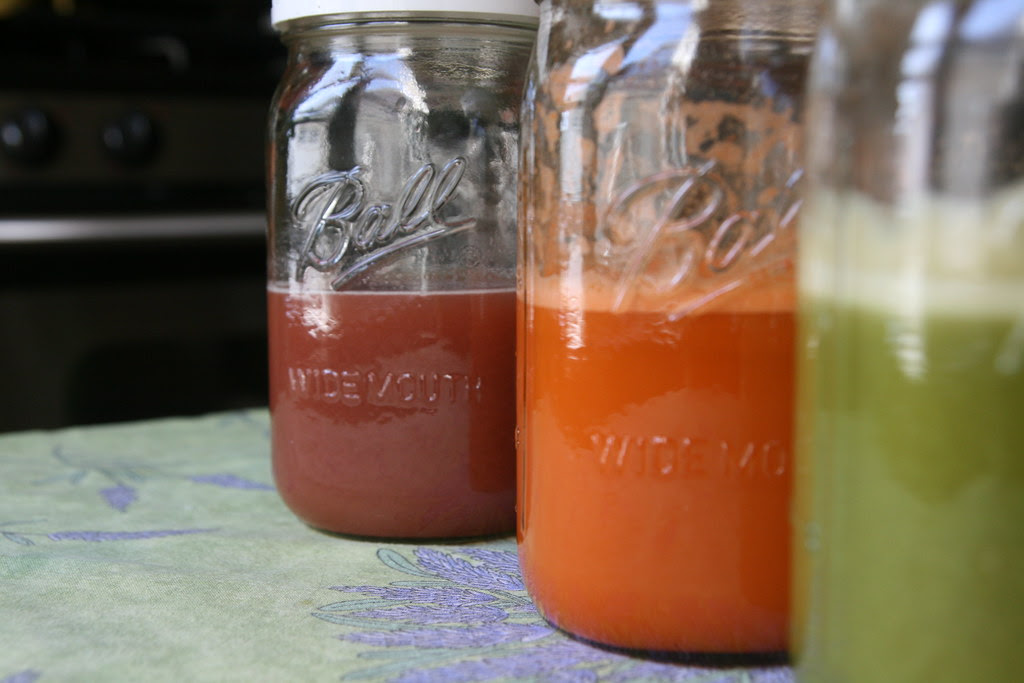 strawberry-orange-cabbage juice