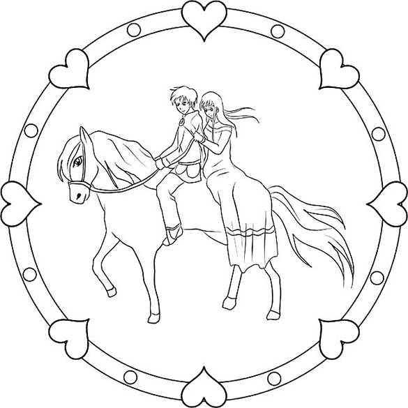 Ausmalbilder Kostenlos Pferde 13 | Ausmalbilder Kostenlos