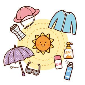 クリップアート紫外線対策日焼けどめのイラスト日焼けケア用品