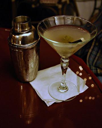Dirty Martini at the Tini Martini Bar, the Casablanca Inn.