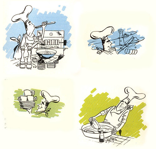 Big Boy Barbecue Book: various illustrations