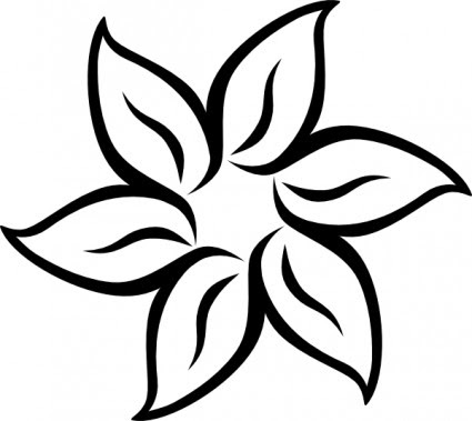 Free Simple Black And White Flowers Download Free Clip Art Free Clip Art On Clipart Library