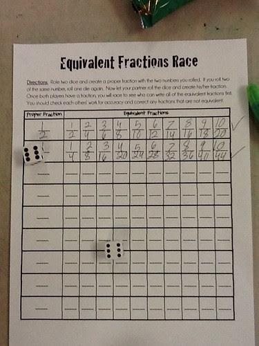 Equivalent Fraction Race