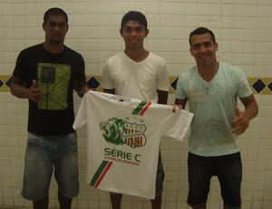 Pedro Bacarena, Daniel e Paulinho são os reforços do Baraúnas (Foto: Pedro Ítalo)
