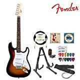 Fender T-SB-WH Starcaster Strat Electric Guitar Perfect for Beginners - 3 Tone Sun Burst
