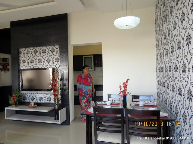 Dining - Visit 2 BHK Show Flat of Vastushodh Projects' UrbanGram Kolhapur, Township of 438 Units of 1 BHK 2 BHK Flats, behind S. P. Office, near Dream World Water Park, Kolhapur 416003 Maharashtra, India