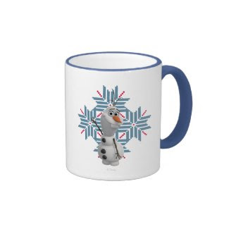 Olaf - Blue Snowflake Coffee Mugs