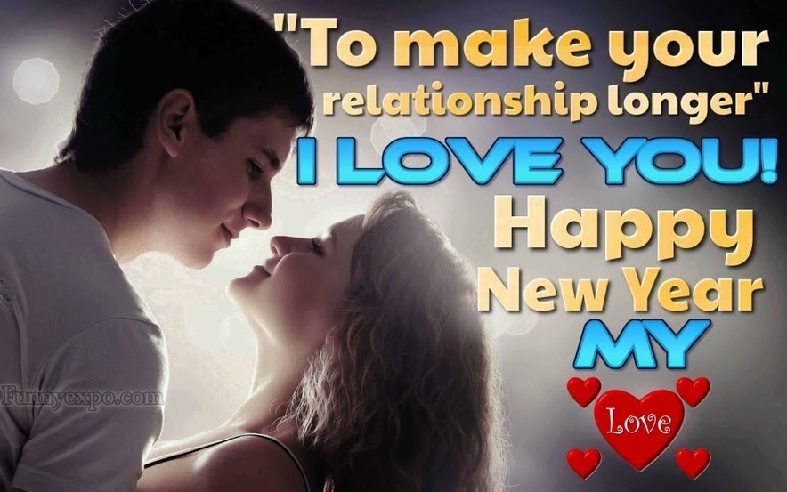 Romantic Happy New Year Love Couple Greeting Image Funnyexpo