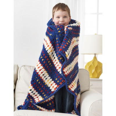 Woven-Look Striped Blanket