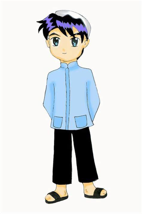 gambar kartun muslim pria sholeh  lucu katarikcom