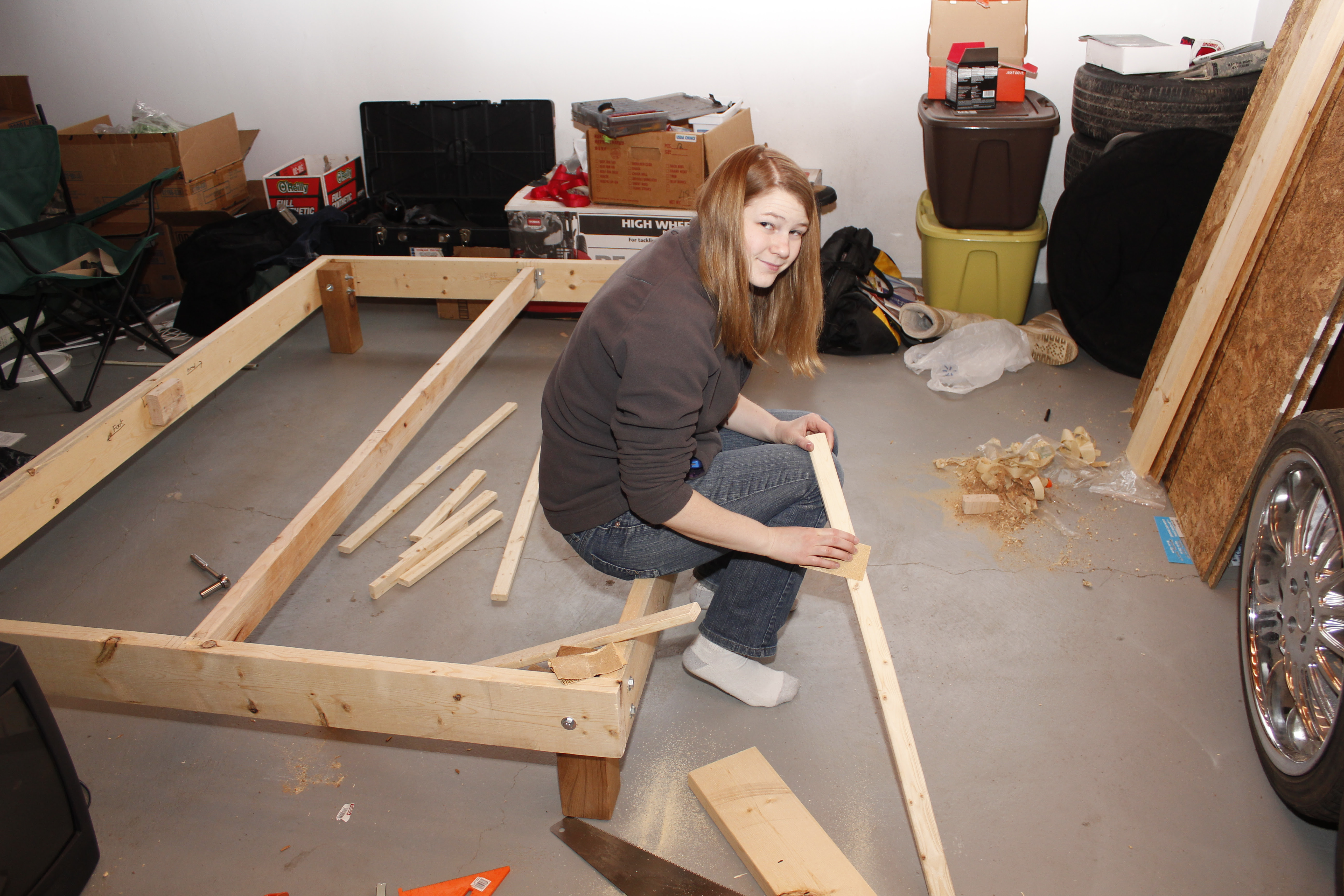 How To Build A Queen Size Platform Bed Frame Home Designs Inspiration