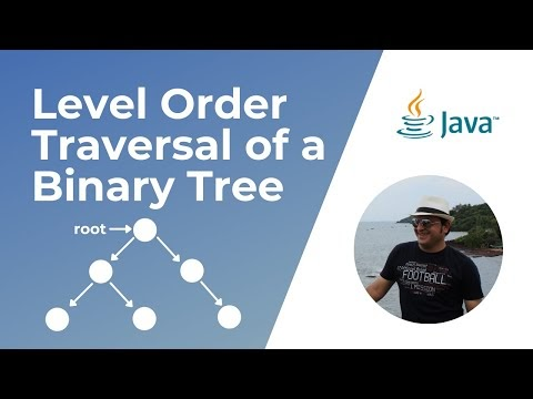 Level order traversal of a Binary Tree in Java (Video
