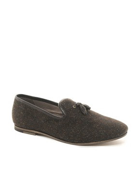 Image 1 ofH By Hudson Sayah Tweed Loafers