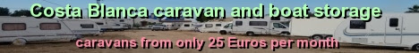 RV, 5th wheel, caravan and boat storage, Costa Blanca