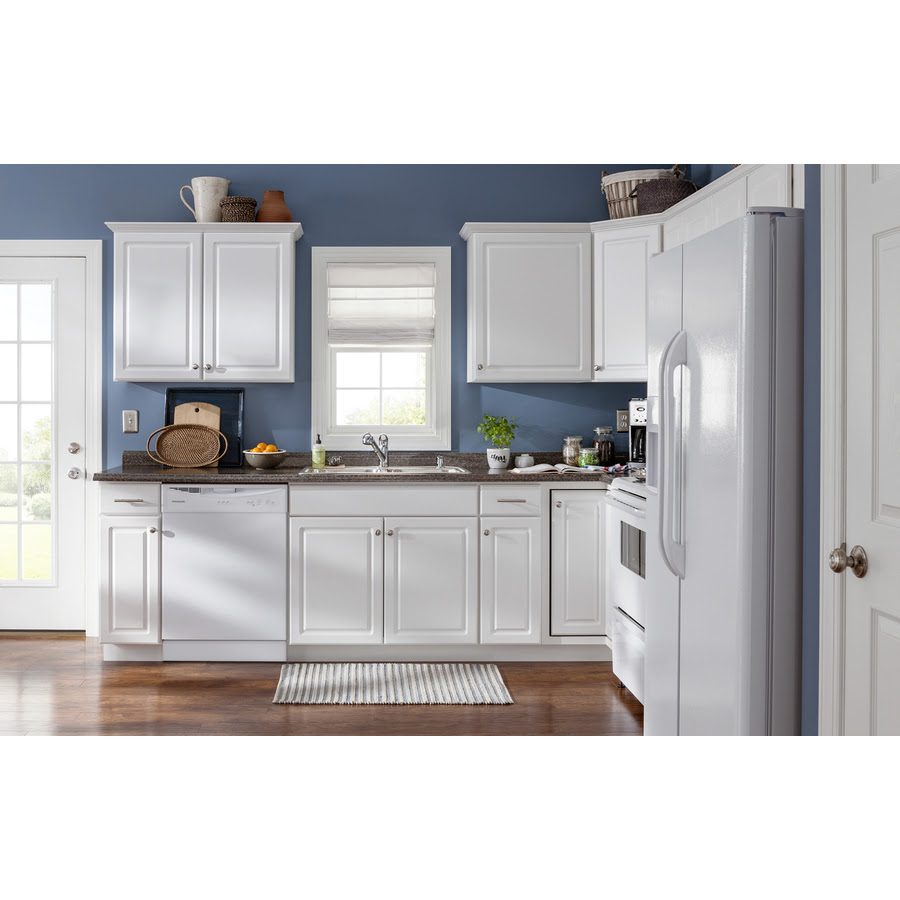 Diamond Now Concord 36 In W X 30 In H X 12 In D White Door Wall Stock Cabinet In The Stock Kitchen Cabinets Department At Lowes Com