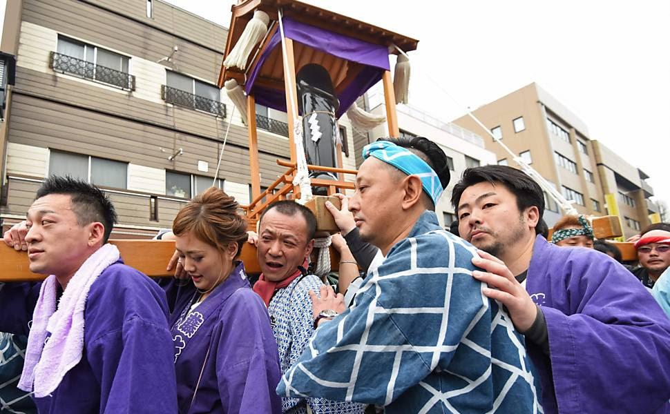 Cerca de 20 mil pessoas se reuniram em Kawasaki para celebrar o Festival do Pênis
