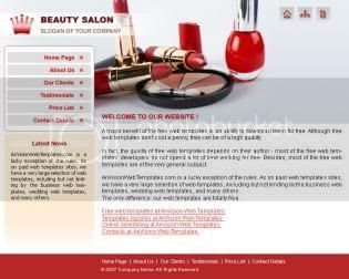 CSS Makeup and Beauty Sexy Salon Template