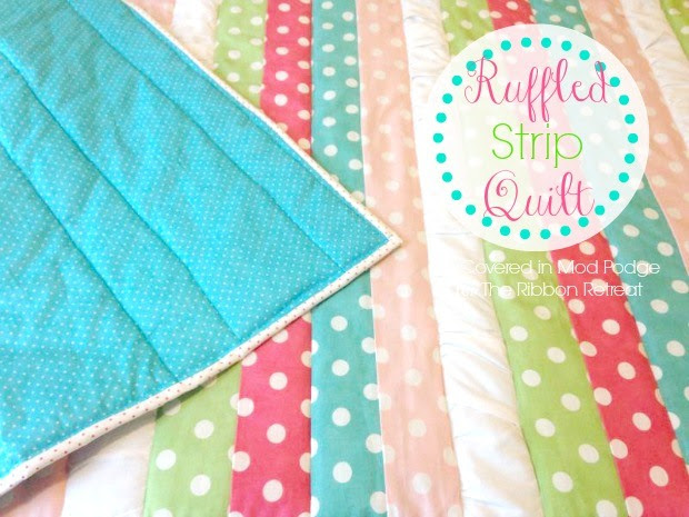 ruffled strip quilt
