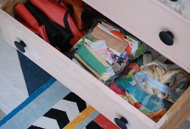 craft room dresser drawer