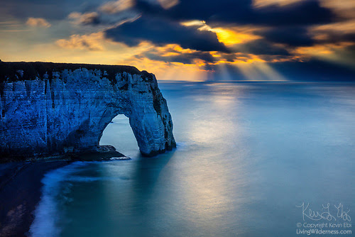 God Beams and Manneporte, Étretat, France