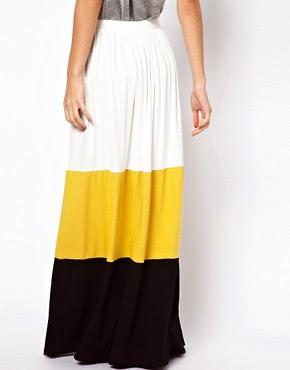 Image 2 ofASOS Maxi Skirt in Colourblock