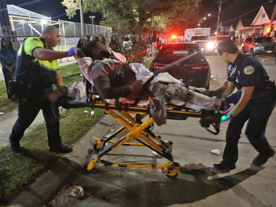 At least 16 people were taken to the hospital after a shooting at a playground in New Orleans