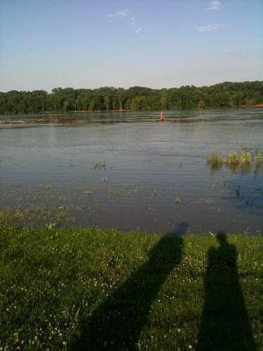 River was high in St. Charles