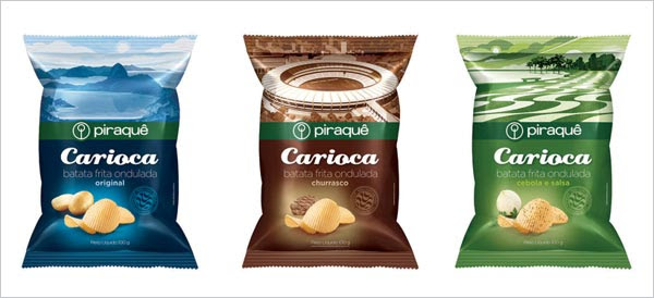 Carioca Potato Chips Packaging designs 30+ Crispy Potato Chips Packaging Design Ideas