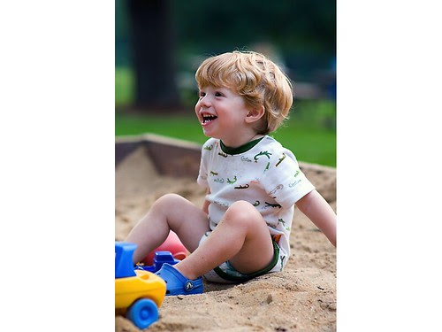 Kid in sandbox