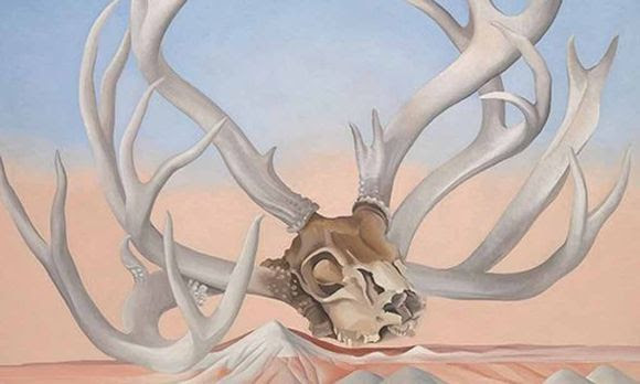 """O'Keeffe bediente den Mythos US-Kunst durchaus ironisch: """"From the Faraway, Nearby"""", 1937."""