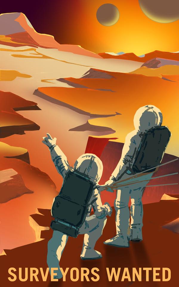 Khảo sát địa chất Sao Hỏa và hai vệ tinh của nó. Bạn đã từng bao giờ tò mò về những thứ trên Sao Hỏa? Chúng tôi là những kẻ tò mò, và sự tò mò đã dẫn chúng tôi đến Sao Hỏa, cũng như hai vệ tinh Phobos và Deimos. Bạn có thể tự tay mình khám phá bề mặt địa chất ở những thung lũng, hẻm núi, miệng núi lửa và những quả đồi trên Hỏa Tinh. Bạn sẽ làm việc cùng những chú robot và những công dân địa cầu đồng hành. Credit: NASA/KSC.