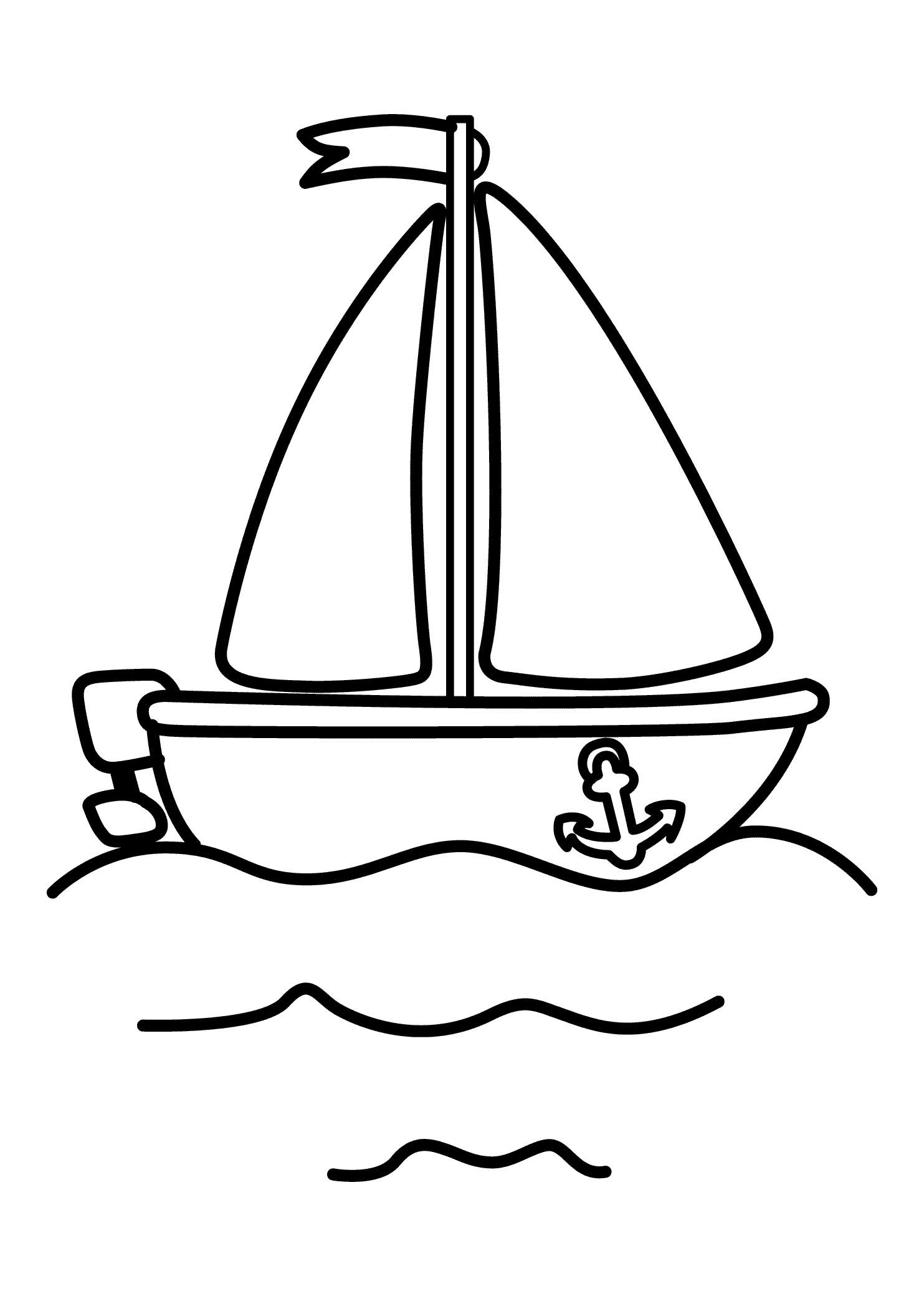 Rugged Boat Coloring Page | Free | Ship Coloring Pages | Fishing Boats | 2079x1483