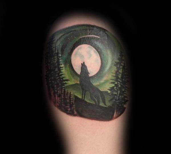 50 Northern Lights Tattoo Designs For Men - Aurora ...