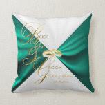 Jade Teal Bride & Groom Keepsake | Personalize Pillows