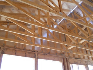 House Roof Gables Trusses Siding Inside View